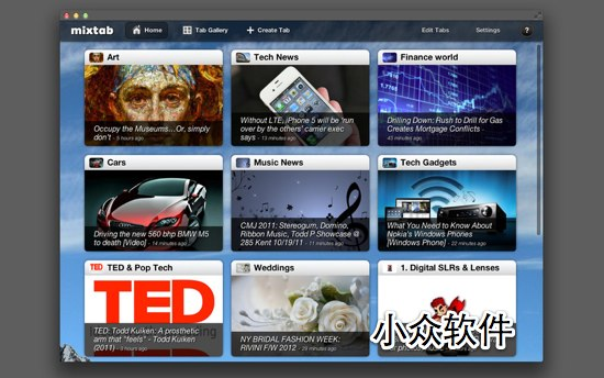 Mixtab - Google Reader 客户端 [Mac/iPad] 1