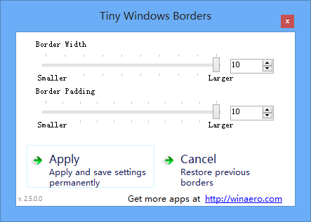 Tiny Windows Borders - 修改 Windows 8 窗口边框 2