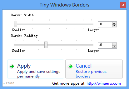 Tiny Windows Borders - 修改 Windows 8 窗口边框 1