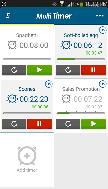 Multi Timer StopWatch - 多功能计时器[Android] 1