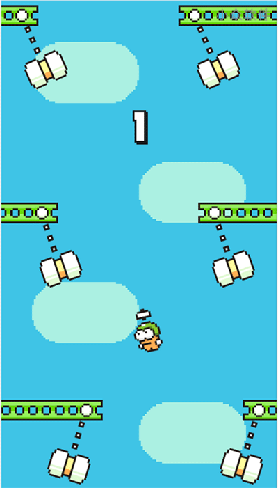Swing Copters - 虐心游戏 Flappy Bird 续作[iOS/Android] 1