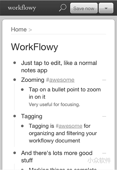 WorkFlowy - 最简的笔记、清单工具[Web/iOS/Android/Chrome] 1