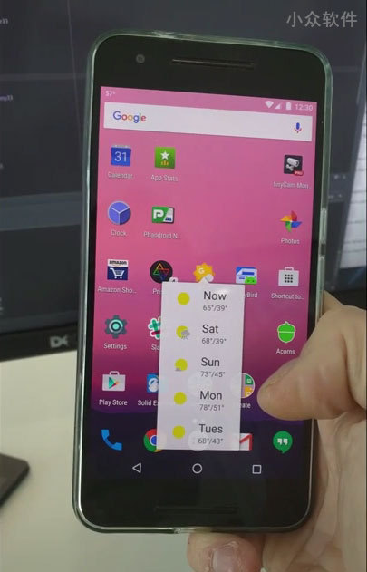Android N 预览版下的 3D Touch[视频] 1