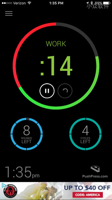 PushPress Timer - 健身计时器[iPhone/iPad] 2
