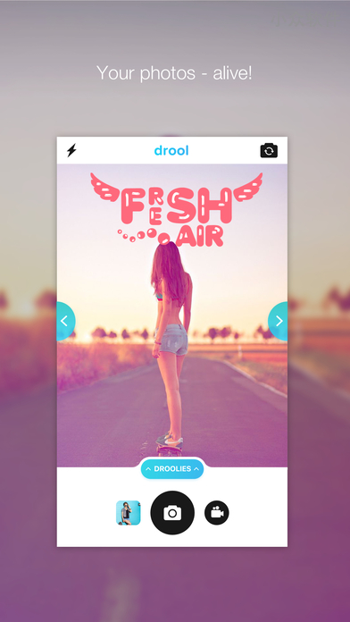 Drool - 制作 Instagram 快拍风格的照片[iPhone / Android] 1
