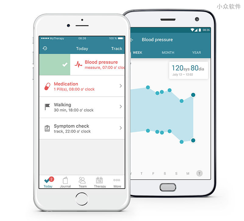 MyTherapy 服药提示器 - 提醒、记录、健康报告 [iOS/Android] 1