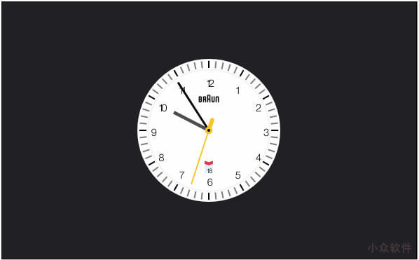 Clock.saver - 源自 Braun Watches 灵感的时钟屏保 [macOS] 7