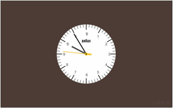 Clock.saver - 源自 Braun Watches 灵感的时钟屏保 [macOS] 4
