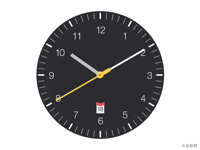 Clock.saver - 源自 Braun Watches 灵感的时钟屏保 [macOS] 3
