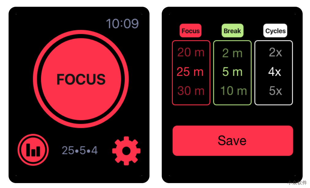 SILO Focus and Study Timer - Apple Watch 上的番茄时钟 1