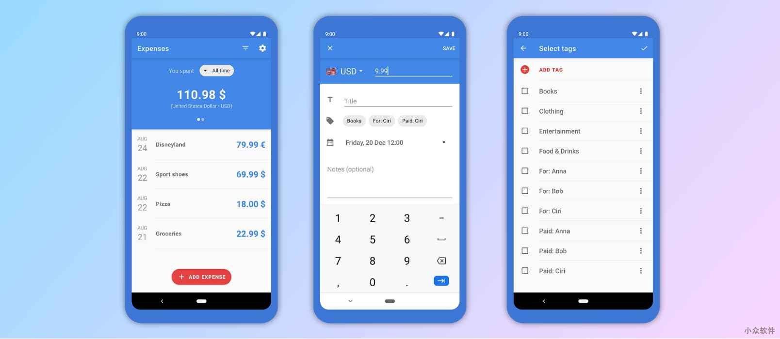 Expenses - 超级极简的开源记账应用[Android] 1