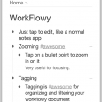 WorkFlowy - 最簡的筆記、清單工具[Web/iOS/Android/Chrome] 7