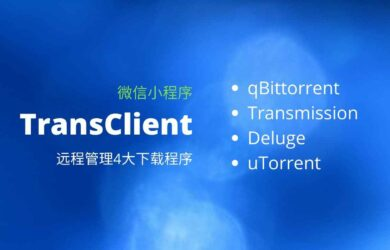 TransClient - 遠程管理 qBittorrent、Transmission、Deluge、uTorrent 4大下載工具[微信小程序] 12