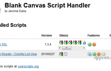 Blank Canvas Script Handler - Chrome Greasemonkey 脚本管理器 13